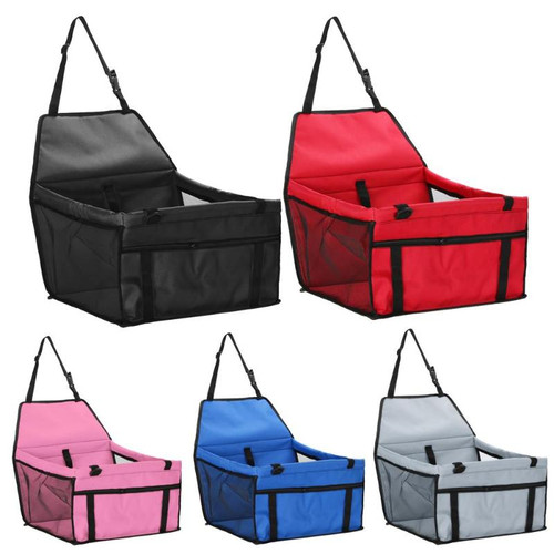 Adjustable pet car safety seat, durable & safe. 5 colors.