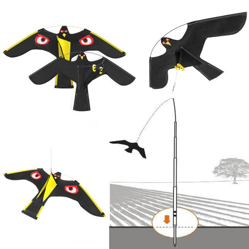 Simulation Flying Hawk Bird Scarer, bird repellent 2 Styles