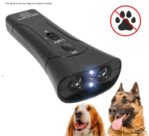 3 in 1 Ultrasonic Pet Dog Repeller Anti-Barking Training Device