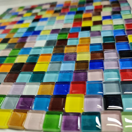 300pcs Mosaic Tiles for DIY Craft, 46 colors 1x1cm