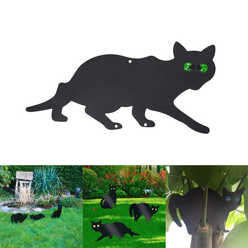 Scare Cat Shape Bird Repellent Rustproof Garden Statue