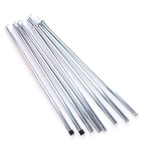 8pc Tent Pole Camping Rod Set. Makes 2 x 2m Tent Poles.