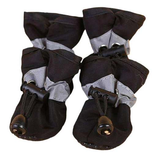 4pc Waterproof non-slip Dog Boot Shoes, 4 colors, 7 Sizes.