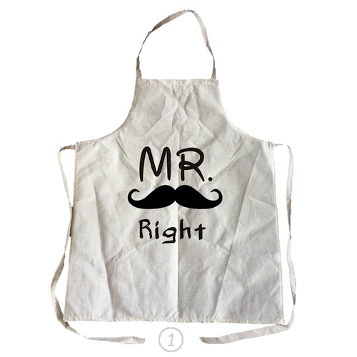 Mr Right & Mrs Always Right Funny Kitchen Apron
