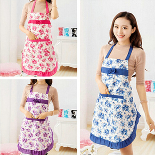Retro Style Sleeveless Kitchen Apron with Pocket, 6 colors.