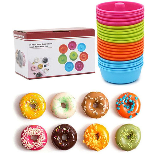 24pc Silicone Donut Baking Mould Set