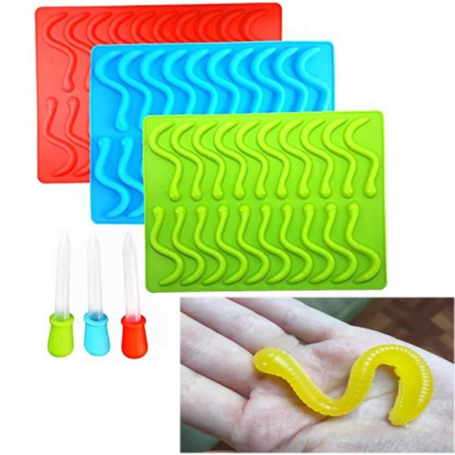 Snake Gummy Bear Jelly Moulds, Ice Cube Tray