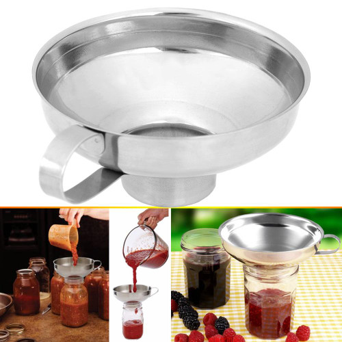 Stainless Steel Wide Mouth Canning, Jelly, Jam Funnel