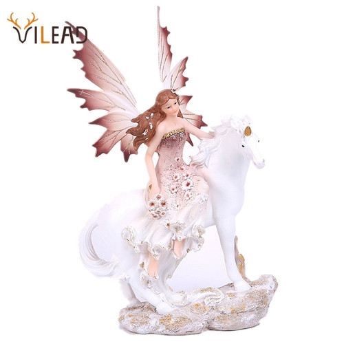 16-35cm Fairy, Unicorn Statue Ornament. 7 Styles.