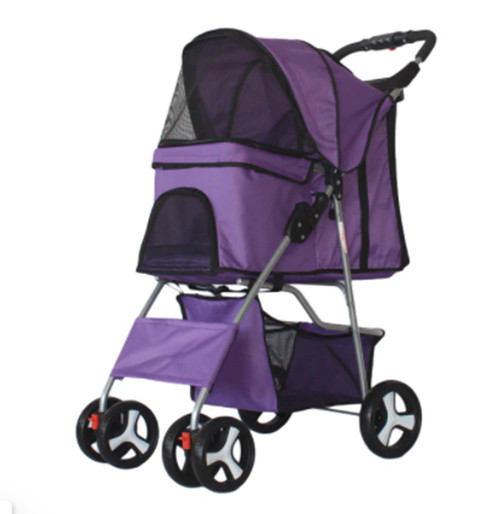 Foldable Pet Dog Carrier Stroller with Rain Proof Cover, 3 colors