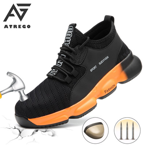 Men's Waterproof Stab-Proof Steel Cap Comfy Safety Shoes