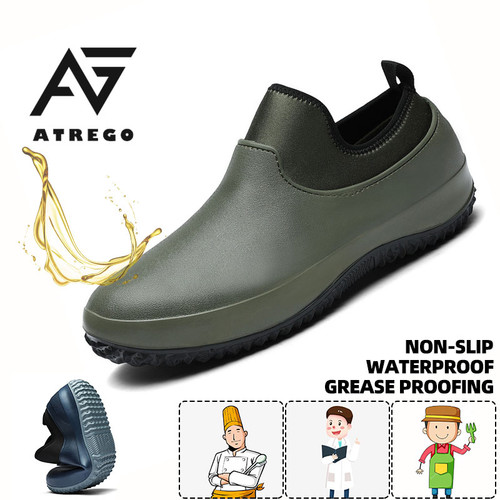 Plus Size Unisex Waterproof & Oil-proof Chef Nurse Safety Shoes