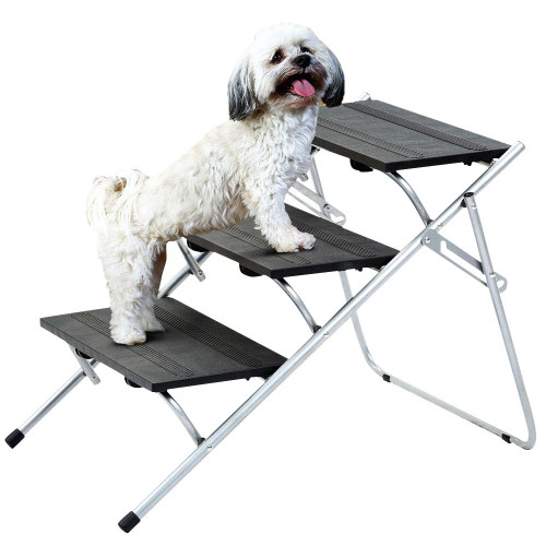 Lightweight 3 Step Folding Pet Ladder Ramp. Holds up to 45kg