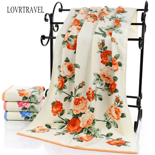 Floral Rose Luxury Cotton Bath Towel, 3 colours, 2 sizes