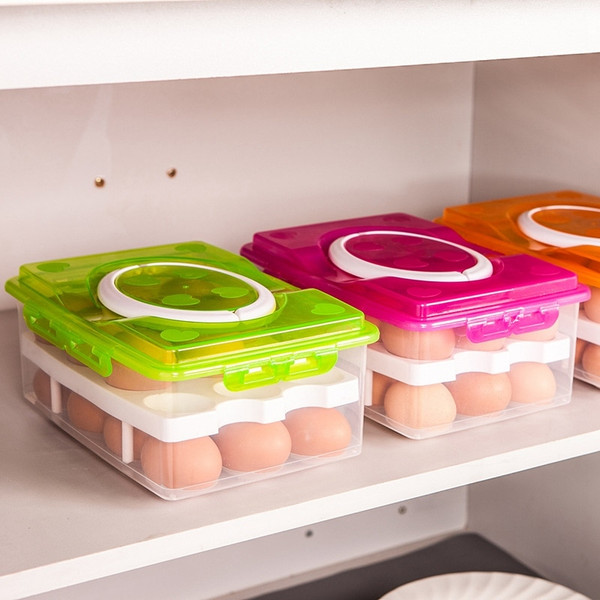 Kitchen 24 Egg Double Layer Multi-function Storage Food Container