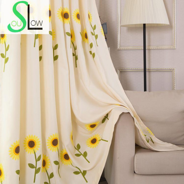 Luxury 3D Sunflower Embroidered Curtain/Tulle