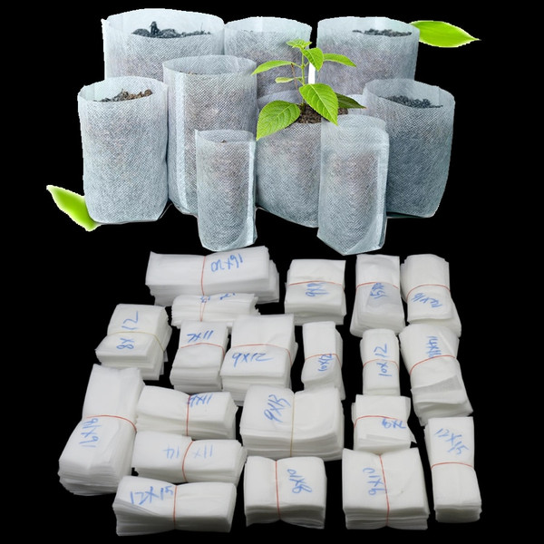 18 Sizes Biodegradable Non-woven Seedling Nursery Grow Bags