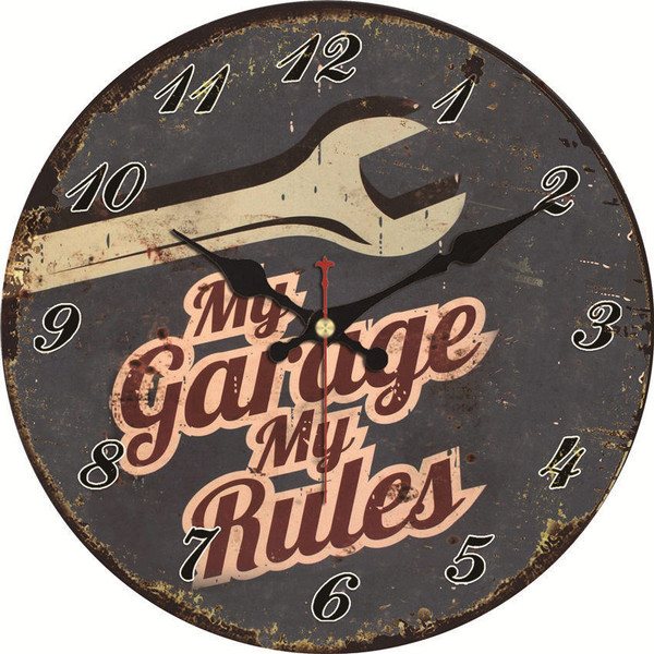 Vintage Wall Clock 7 Styles, 4 Sizes