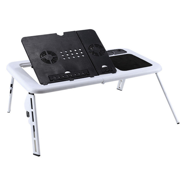 Adjustable Laptop Desk Foldable Table Stand with USB Cooling Fans