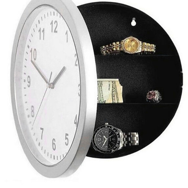 Wall Clock Safe for Valuables. Ideal for jewellery, money, keys.
