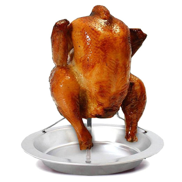 Stainless Steel BBQ Grill Chicken Roaster Stand