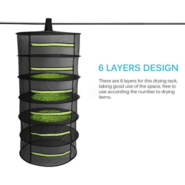 4-6 Layers Folding Herb Flower Drying Rack. 2 Sizes.