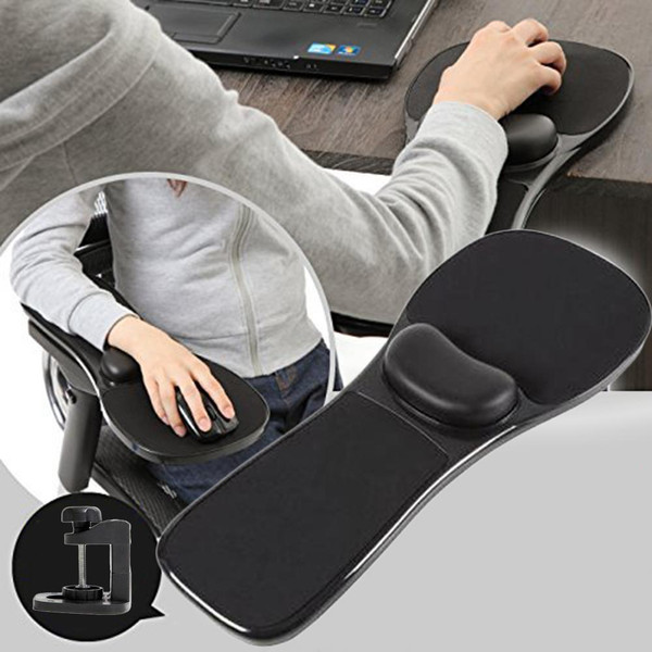 Full Support Computer Arm Rest & Mouse Pad for Desk/Chair