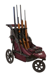 Maroon/Charcoal Limited Edition 4-Gun Shooting Cart