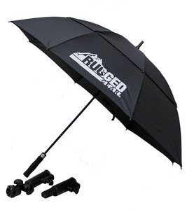 Black Wind Resistant Umbrella With Holder & Extension