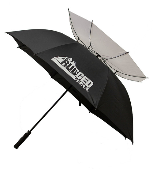 Black and White Wind Resistant Umbrella
