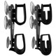 Suction Cup Gun Holder Double Hook