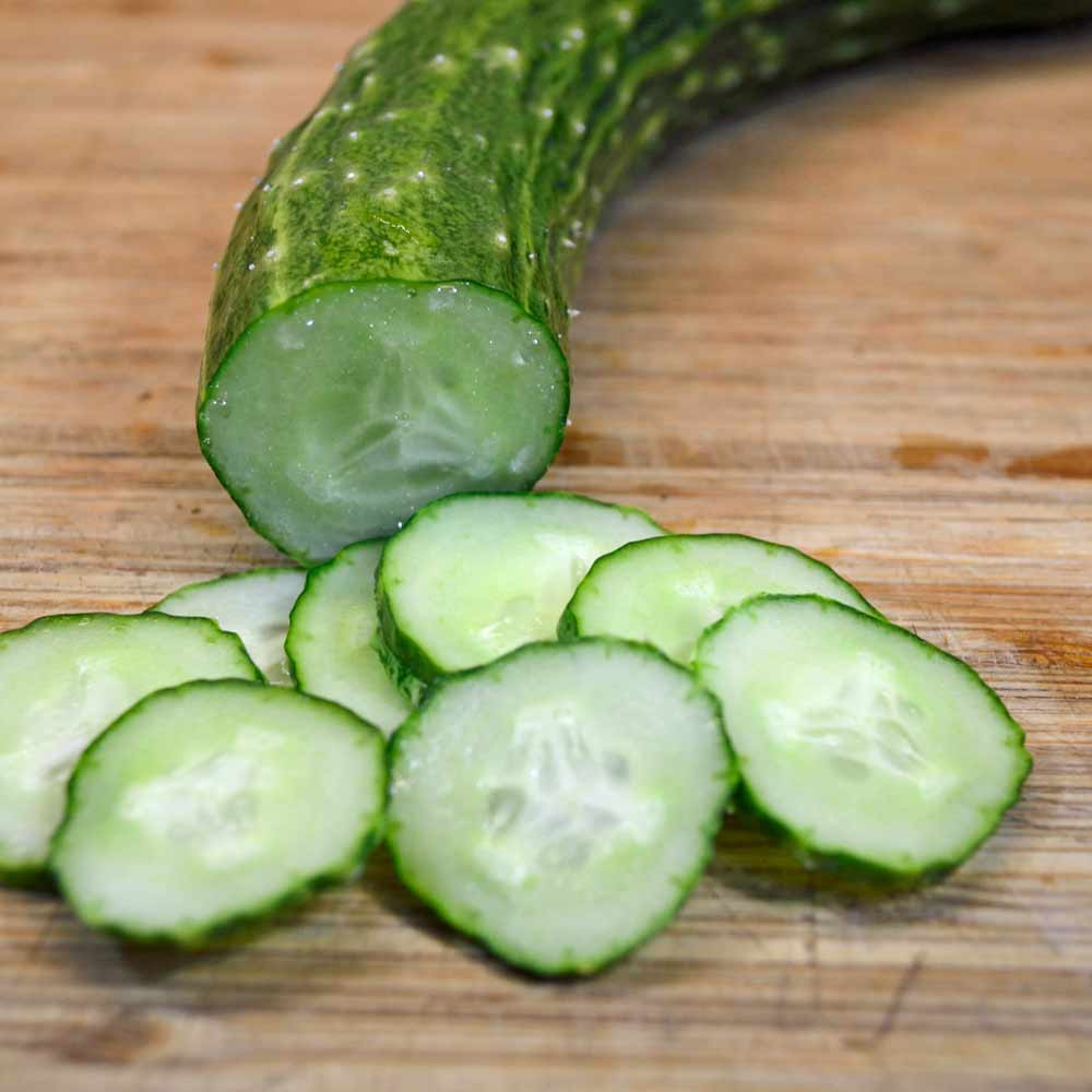 Sliced Suyo Long Cucumber - (Cucumis sativus)