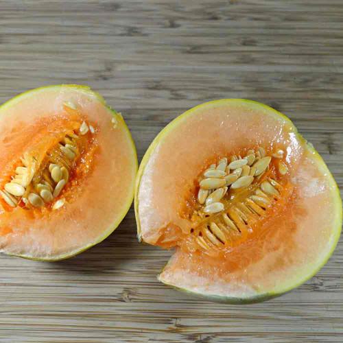 Sliced Charentais Melon (Cucumis melo var. cantalupensis)