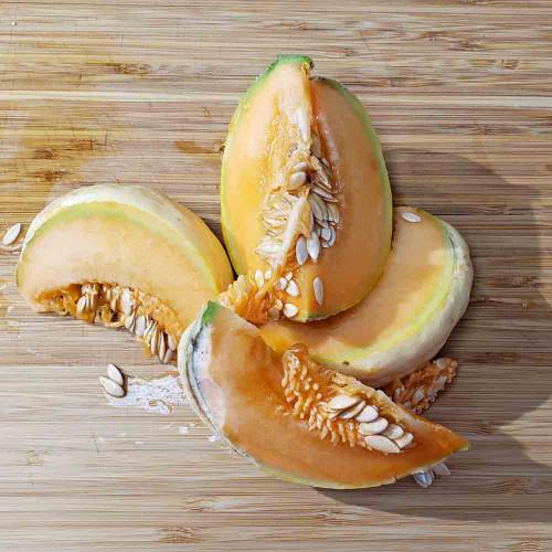 Sliced Prescott Fond Blanc Melon  - (Cucumis melo var. cantalupensis )