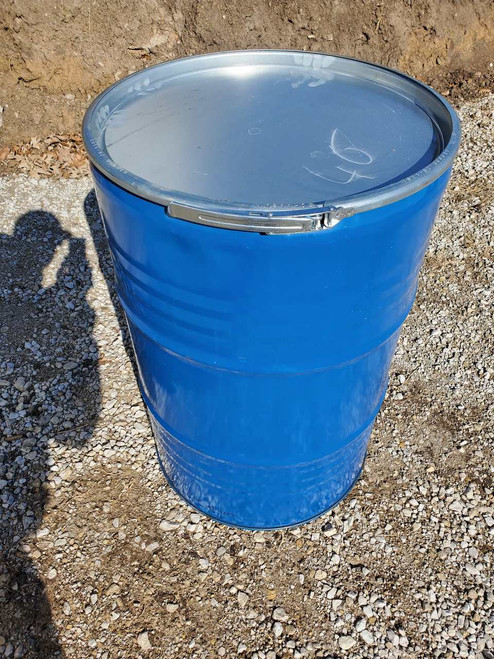 55 Gallon Steel Storage Drums with lids & rings for sale