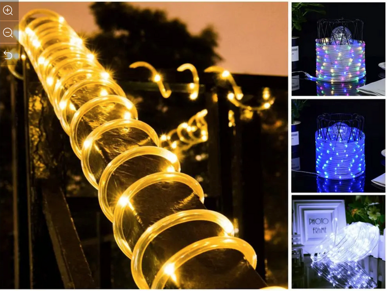 Solar Rope Lights, 66 Feet 200 LEDS with 8 light Modes