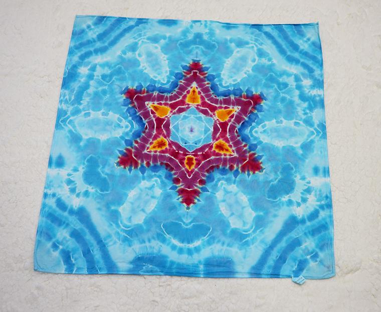 Tie dye blue star bandana