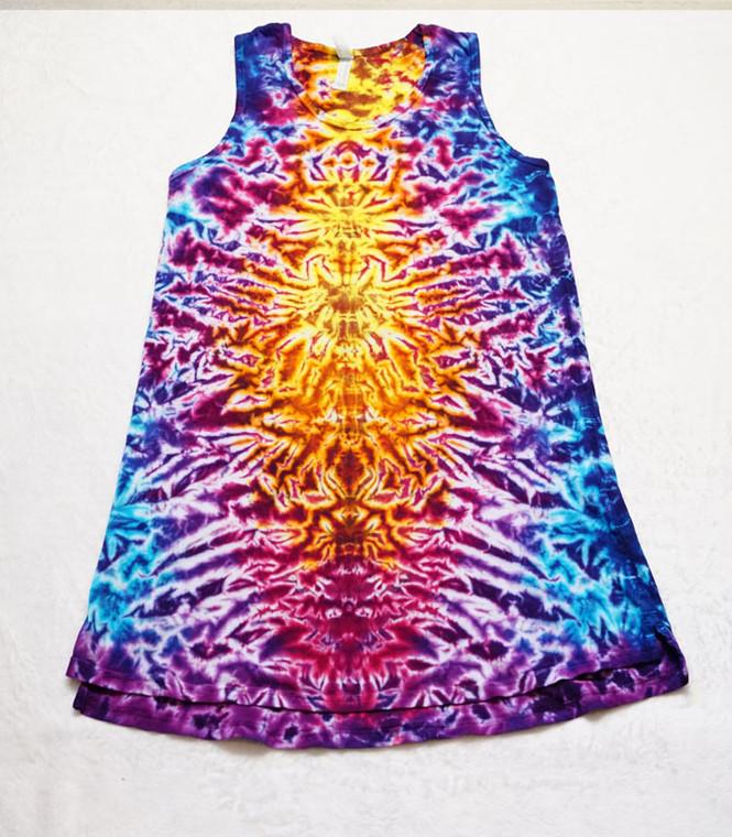 Ladies Tank Dress butterfly goddess crinkle