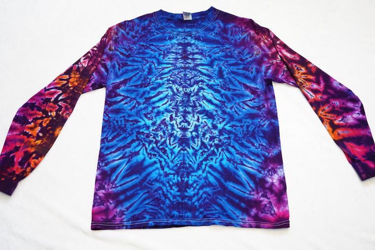 Medium Long Sleeve Crinkle - purples, blues, reds