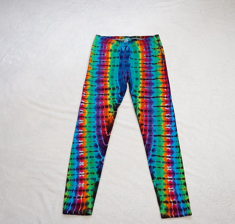 Large Rainbow DNA leggings