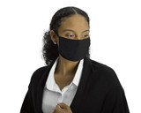 Antimicrobial Unisex Face Mask (2-pack), Filter Pocket, Black