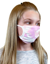 Youth Antimicrobial Unisex Face Mask (2-pack), Pink Camo