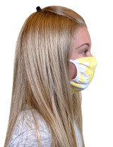 Youth Antimicrobial Unisex Face Mask (2-pack), Yellow Camo