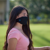 Youth Antimicrobial Unisex Neck Loop Face Mask (2-pack), Black