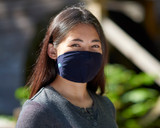 Youth Antimicrobial Unisex Neck Loop Face Mask (2-pack), Navy