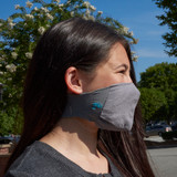Youth Antimicrobial Unisex Neck Loop Face Mask (2-pack), Grey