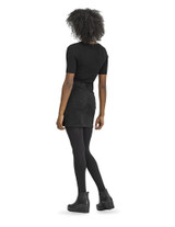 Antimicrobial Diamond Textured Tight with Control Top, Black