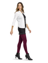 Antimicrobial Diamond Textured Tight with Control Top, Vineyard
