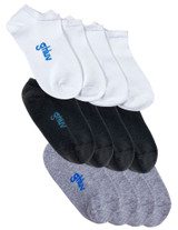Youth Antimicrobial Home Sock 12pk, White/Grey/Black