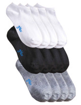 Men's Antimicrobial Home Sock 12pk, White/Grey/Black